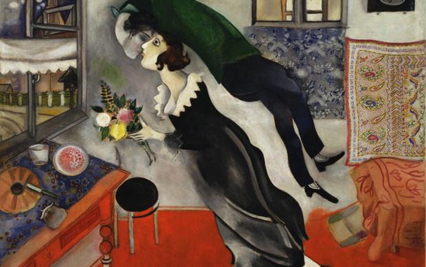 Marc Chagall, Compleanno, 1915, olio su cartone