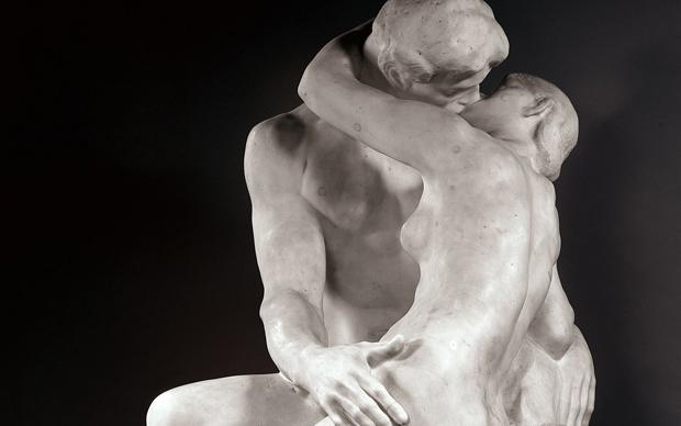 Auguste Rodin, Il bacio, 1888-1889, scultura in marmo