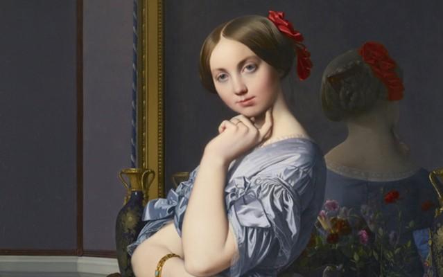 Jean-Auguste-Dominique Ingres, Comtesse d'Haussonville (dettaglio), 1845, Frick Collection di New York
