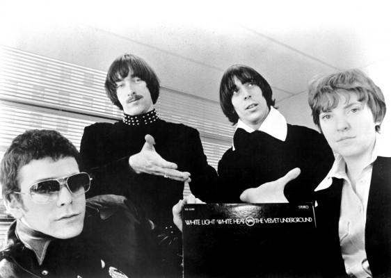 """1969: (L-R) Lou Reed, Sterling Morrison, John Cale and Maureen """"Moe"""" Tucker of the rock and roll band """"Velvet Underground"""" pose for a portrait in circa 1969. This lineup of the group was active from March 1968 until June of 1970. (Photo by Michael Ochs Archives/Getty Images)"""