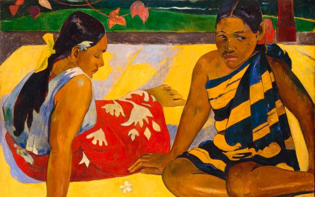 Paul Gauguin, Parau Api. Galerie Neue Meister, Staatliche Kunstsammlungen Dresden
