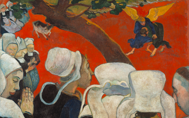 Paul Gauguin, La visione dopo il sermone, 238 x 300 mm