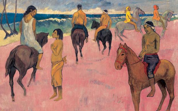 Paul Gauguin, Cavaliers sur la plage, 230 x 290 mm