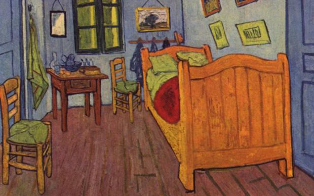 Vincent Van Gogh, (particolare) La camera di Vincent ad Arles, 1888