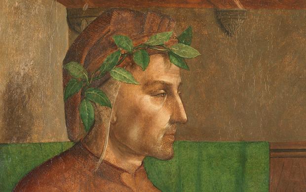 Giusto di Gand e Pedro Berruguete, Dante Alighieri, Dipinto su tavola, 112 x 65 cm Parigi, Musée du Louvre © C2RMF/ E. Lambert
