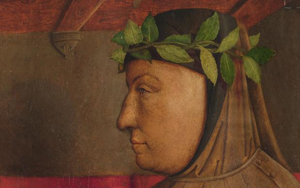 Giusto di Gand e Pedro Berruguete, Francesco Petrarca, Dipinto su tavola, 112 x 58 cm, Urbino, Galleria Nazionale delle Marche © M2ADL