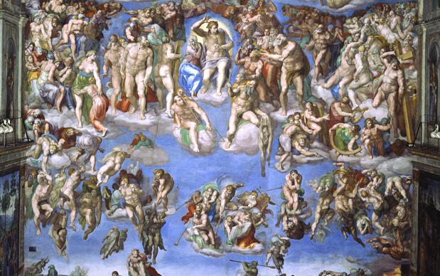 Michelangelo, Giudizio Universale, Cappella Sistina, Stato della Città del Vaticano, Roma