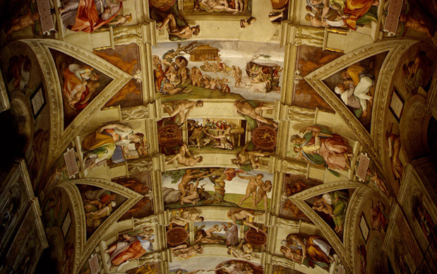Michelangelo, Volta della Cappella Sistina, Stato del Vaticano, Roma