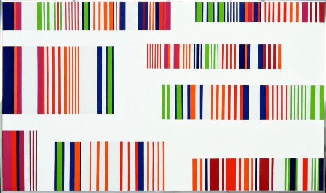Ottavio Missoni, Senza titolo, 1973, acrilico su tavola, cm 98x173. Collezione privata