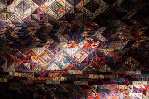 Ottavio Missoni, Arazzo, s.d, patchwork di tessuti in maglia, Fondazione Ottavio e Rosita Missoni. Photo Marco Cappelletti