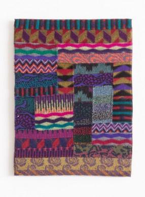 Ottavio Missoni, Arazzo, 1985, patchwork di tessuti in maglia, cm 89x67, Fondazione Ottavio e Rosita Missoni. Photo Marco Cappelletti