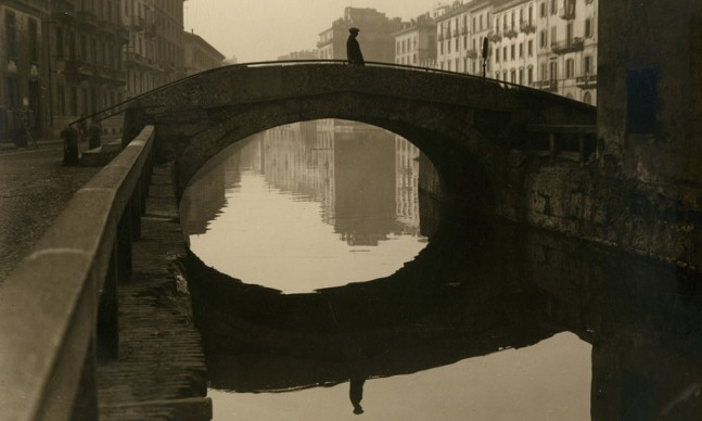 Gerardo Colombi, Il ponte di San Marco sul naviglio della Martesana, Milano, prima del marzo 1929. Civico archivio fotografico