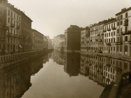 Gerardo Colombi, Il tombon di San Marco, Milano, prima del marzo 1929. Civico archivio fotografico