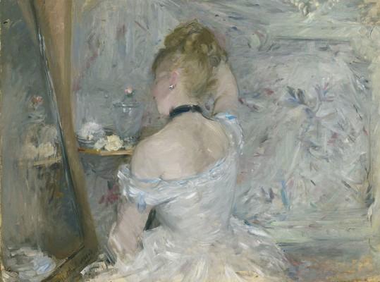 Berthe Morisot, Woman at Her Toilette, 1875-80. Olio su tela, 60.3 x 80.4 cm © The Art Institute of Chicago, Illinois