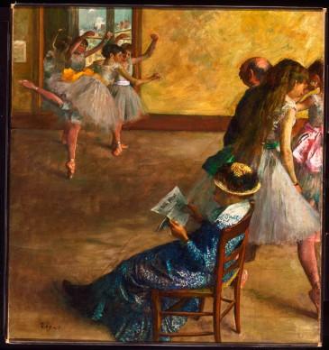 Hilaire-Germain-Edgar Degas, The Ballet Class, circa 1880. Olio su tela, 82.2 x 76.8 cm © Philadelphia Museum of Art, Pennsylvania
