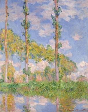 Claude Monet, Poplars in the Sun, 1891. Olio su tela, 93 × 73.5 cm © National Museum of Western Art, Tokyo