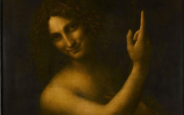 Leonardo da Vinci, San Giovanni Battista, Museo del Louvre, Parigi