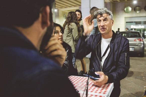 Maurizio Cattelan a Souvenir di Milano 2015. Piazza Affari, Milano, 15 aprile