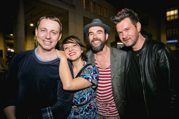 Paride Vitale, Marisa Passera, Stefano Seletti e Andrea Mariano a Souvenir di Milano 2015. Piazza Affari, Milano, 15 aprile