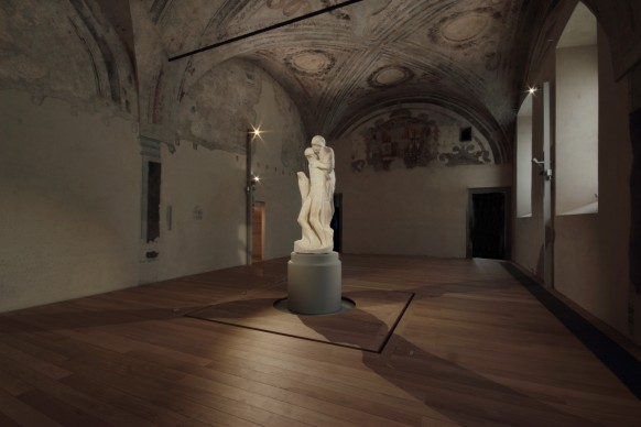 Michelangelo Buonarroti, Pietà Rondanini, nuovo allestimento in Castello Sforzesco a cura di Michele De Lucchi. Milano, aprile 2015. Foto: Roberto Mascaroni