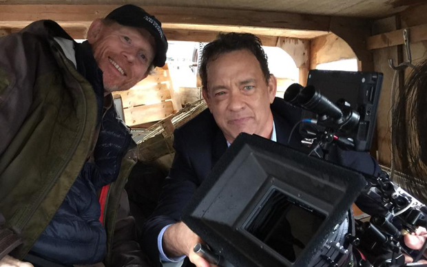 Ron-Howard-e-Tom-Hanks-sul-set-di-Inferno