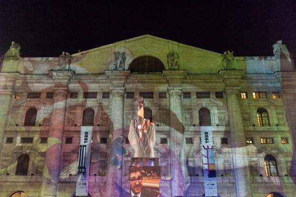 Souvenir di Milano 2015. Piazza Affari, Milano, 17 aprile 2015