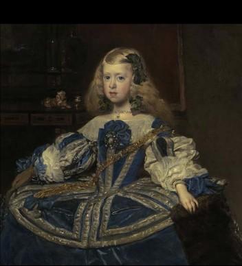 Diego Velázquez, Ritratto dell'Infanta Margherita in azzurro