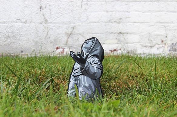 Urban Art: le sagome in legno di Joe Iurato