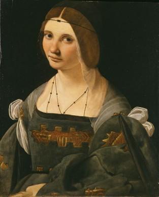 Giovanni Antonio Boltraffio, Ritratto di dama (1500 circa), olio su tavola; 49,5 x 40,5 cm, Collezione Principi Borromeo Isola Bella