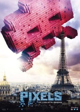 Poster del film Pixels, in uscita a luglio 2015