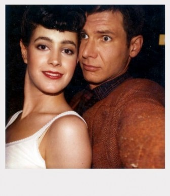 Sean Young e Harrison Ford sul set di Blade Runner