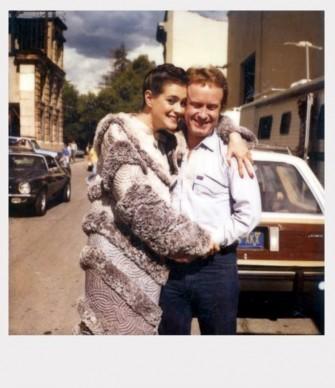 Sean Young e Ridley Scott sul set di Blade Runner