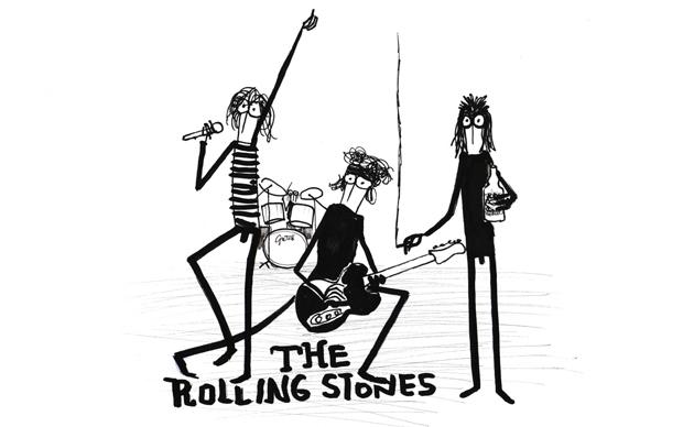 Fausto Gilberti, The Rolling Stones, illustrazione tratta da Bookstars