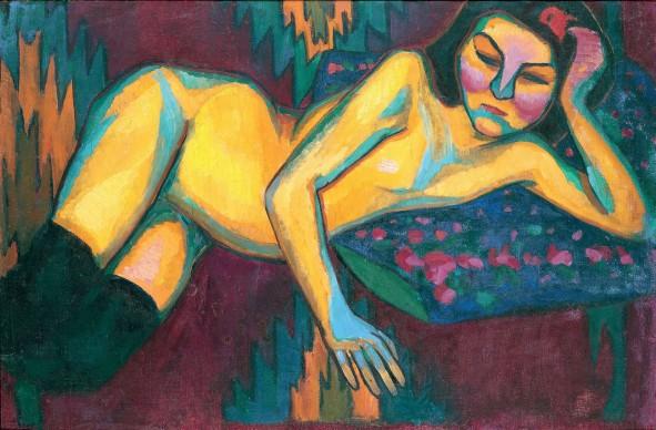 Sonia Delaunay,  Yellow Nude, 1908, Musée des Beaux-Arts de Nantes, Nantes © Pracusa 2014083