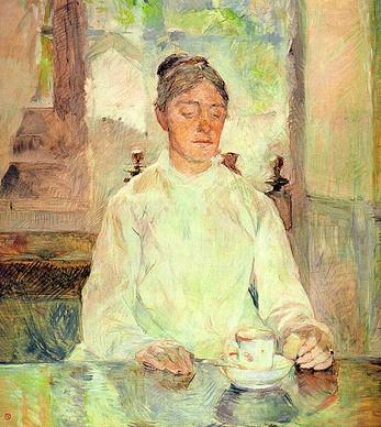 13. Henri de Toulouse-Lautrec, Ritratto della Madre, la Contessa Adèle de Toulouse-Lautrec a colazione, 1881-1883