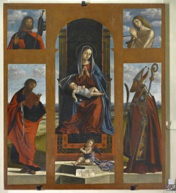 Vittore Carpaccio, Polittico di Pozzale, 1519, olio su tela, 180x210 cm, Parrocchia di Pozzale di Cadore