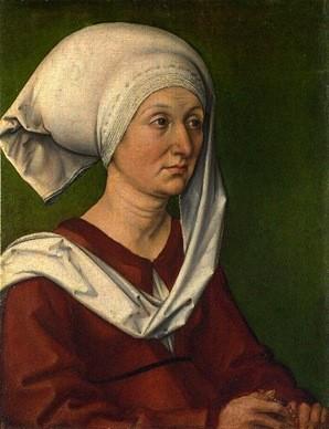 Albrecht Durer, Ritratto di Barbara Durer, madre dell'artista, 1490
