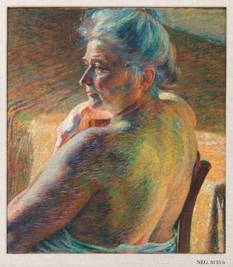 Umberto Boccioni, Nudo di spalle (Controluce), 1909. Olio su tela, cm 60 x 55,2. Mart, Museo di arte moderna e contemporanea di Trento e Rovereto