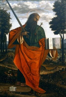 Vittore Carpaccio, San Paolo apostolo, 1520, olio su tela, 190x134 cm, Chiesa di San Domenico, Chioggia