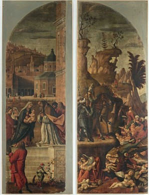 Vittore Carpaccio, Strage degli innocenti, portella d'organo, olio su tela, 400x147 cm, Cattedrale dell'Assunta e di San Nazario, Capodistria