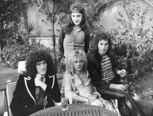 I Queen a Les Ambassadeurs nel settembre del 1976 (Photo by Ian Tyas/Keystone/Getty Images)