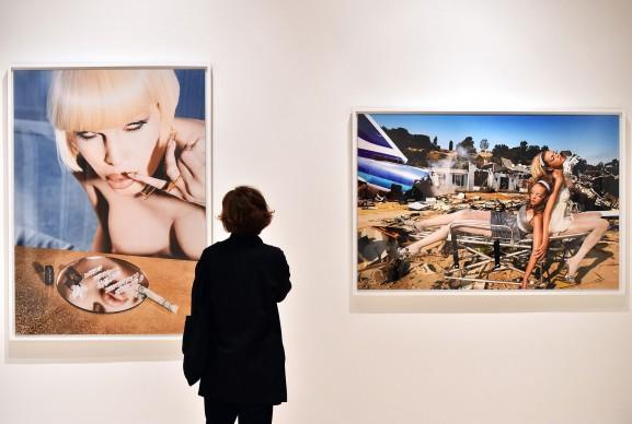 David LaChapelle, Dopo il Diluvio, veduta della mostra a Palazzo delle Esposizioni a Roma, in corso fino al 13 settembre 2015. Foto: GABRIEL BOUYS/AFP/Getty Images