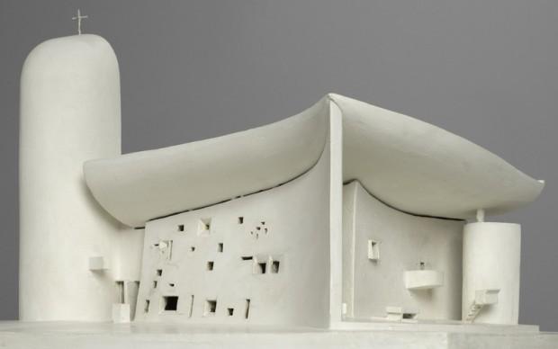 Le Corbusier, modello della Cappella di Notre-Dame du Haut a Ronchamp
