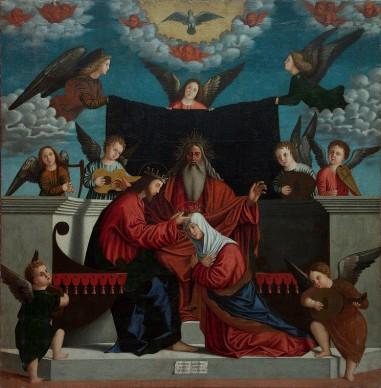 Benedetto Carpaccio, Incoronazione della Vergine, 1537, olio su tela, 183x179 cm, Museo Civico Sartorio, Trieste