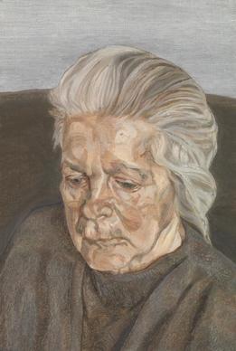 Lucian Freud, La madre dell'artista IV, 1973