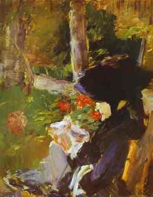 Edouard Manet, Madre nel Giardino di Bellevue, 1880