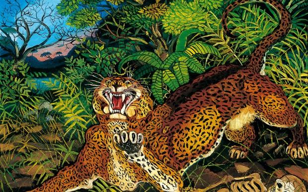 Antonio Ligabue, Leopardo, 1955