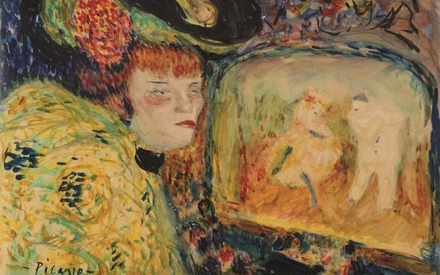 pablo picasso donna a teatro 1909