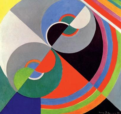 Sonia Delaunay, Rhythm Colour no. 1076, 1939, Centre National des Arts Plastiques/Fonds National d'Art Contemporain, Paris, in prestito al Palais des Beaux-Arts de Lille, © Pracusa 2014083