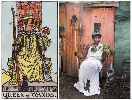 Alicia Smeets, The Ghetto Tarot - Queen of Wands